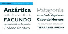 """""""Magallanes,"""" a family of fonts by Latinotype."""