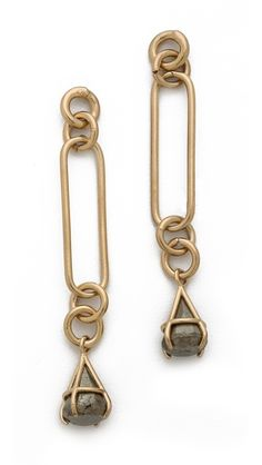 Kelly Wearstler Pyrite Drop Earrings New long link concepts