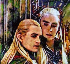 Thranduil and Legolas (by notesong)