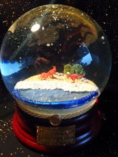"""Hand made custom snow globe - """"With Love, From Australie"""" - from www.QueenOfSnowGlobes.com"""