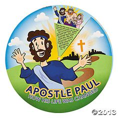 """""""Journey Of Paul"""" Story Wheels. Learn the amazing story of the Apostle Paul in a fun way. Bright and fun illustrations bring the story to . Sunday School Activities, Sunday School Lessons, Sunday School Crafts, Vbs Themes, Bible Crafts For Kids, Train Up A Child, Fun Illustration, Vacation Bible School, Bible Stories"""