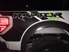 SVT DECAL In The Side Decals By JerrydLittleyahoo Ford Raptor Green