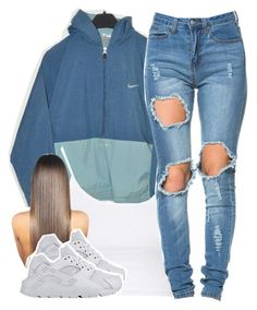 """6/24/16"" by yasnikki ❤ liked on Polyvore featuring NIKE and Topshop"