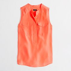 Factory sleeveless popover - cute with a white pencil skirt and cardigan/blazer for work or for a night out with skinny jeans and pumps or shorts with a fun wedge sandal.