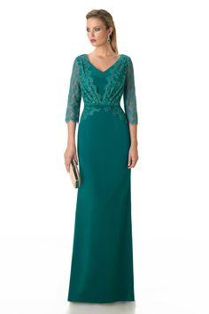 Vestido de Fiesta de Raffaello (Genisco-001), largo