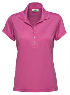 Daily Sports USA Women's Solid Golf Polo-Pink
