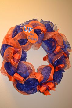University of Florida Gator Wreath. $47.00, via Etsy.