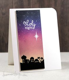 Holiday Card Series 2014 – Day 3. Kristina Werner googled different sky images for this beautiful background