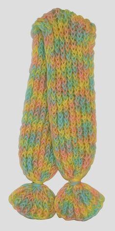 Make a Knifty Knitter Scarf - Figure 8 Wrap-loom pattern Loom Knitting Scarf, Loom Scarf, Knifty Knitter, Loom Knitting Projects, Loom Knitting Patterns, Bead Loom Patterns, Arm Knitting, Yarn Projects, Loom Crochet