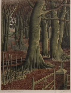Autumn Forest Art by Simon Palmer Landscape Art, Landscape Paintings, Landscapes, Autumn Forest, Forest Art, The English Patient, Tree Illustration, Illustrations, Over The River