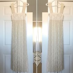 ⚠️FLASH SALE⚠️ Free people romance in the air maxi Free people lace romance in the air maxi.  Perfect condition. See thru but amazing with tight mini dress or even shorts and tank top under.  Slip not included. Free People Dresses Maxi