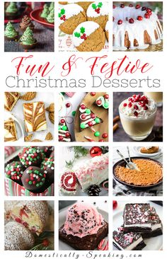 Fun and Festive Christmas Dessert Recipes that are perfect for the holidays! Cakes, pies, bark, brownies and more! Christmas Party Food, Christmas Goodies, Christmas Desserts, Christmas Cooking, Christmas Candy, Christmas Ornaments, Great Desserts, Dessert Recipes, Candy Recipes