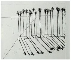 Wayne Thiebaud (American, b. 1920), Palms, 1965, Etching