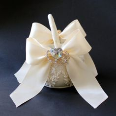 Glamour weddings , Flower Girl Basket by CeremonyDeluxe on Etsy,