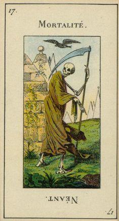 DEATH - Grand Etteilla Trumps Tarot deck 1910 >>> virtual-fortune-teller.com