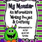 This monster craftivity and informative writing project is fun and engaging for students at any time of the school year, especially around HALLOWEE...