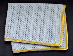 Easy Baby Blanket, free pattern by Lisa Collins.  Pic from Ravelry Project Gallery.  . . .  ღTrish W ~ http://www.pinterest.com/trishw/  . . . #crochet #afghan #throw #pillow