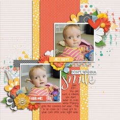 Don't Wanna Smile | Oh Happy Day - River Rose and Two Tiny Turtles http://www.sweetshoppedesigns.com/sweetshoppe/product.php?productid=39317 |   Spring Flowers - Miss Fish Templates http://store.gingerscraps.net/Spring-Flowers-Grab-Bag18.html | #scrapbook #digiscrapping #missfishtemplates #sweetshoppedesigns