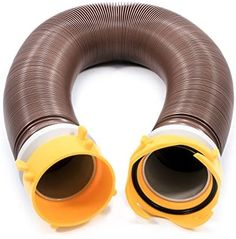 Camco 39639 Revolution 10′ Sewer Hose Extension – Heavy Duty Design with Pre- Attached Swivel Lug and Bayonet Fittings, Easy to Use and Compresses for Simple Storage