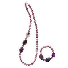 Betsy Kaye Gemset Necklace & Bracelet Set Sterling Silver