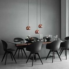 Luxury dining room | grey room is such a  big trend right now, use copper elements to add more sophistication to the room |www.bocadolobo.com #diningroomdecorideas #moderndiningrooms