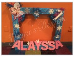 birthday party frames FROZEN