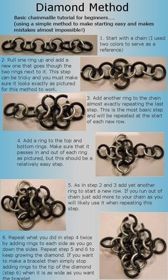 Diamond ChainmailleFree Diy Jewelry Projects | Learn how to make jewelry - beads.us