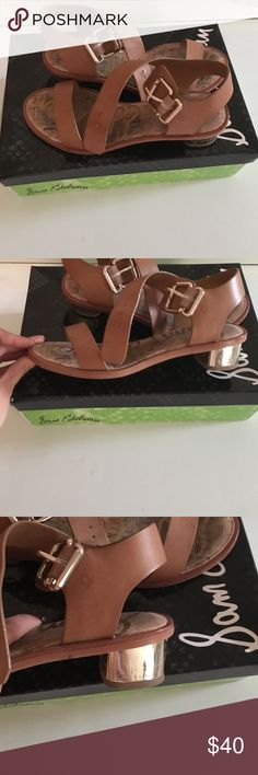 Sam Edelman trixie camel atanado Sandals Brown leather sandals used twice! Trying to make room in my closet need to sell . Very comfortable. Sam Edelman Shoes Sandals