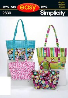 It's So Easy Sewing Patterns : : Simplicity Patterns : Bags