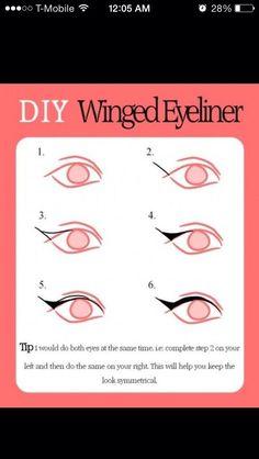 DIY Cat Eye Eyeliner