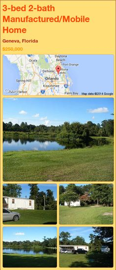 3-bed 2-bath Manufactured/Mobile Home in Geneva, Florida ►$250,000.00 #PropertyForSale #RealEstate #Florida http://florida-magic.com/properties/92625-manufactured-mobile-home-for-sale-in-geneva-florida-with-3-bedroom-2-bathroom