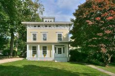 1840 Italianate For Sale In Westport Connecticut Bradley House, Westport Connecticut, High Windows, Old Houses For Sale, New England Travel, Pine Floors, Beach Hotels, Beach Resorts, Attic Spaces