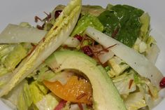 Romaine hearts, orange segments, hearts of palm, olives, avocado, manchego, sherry vinaigrette 12½