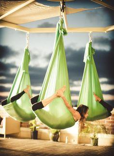 Making exercise fun is a great way to keep yourself going! Making exercise fun is a great way to keep yourself going! Pranayama, Fitness Home, Yoga Fitness, Anti Gravity Yoga, Air Yoga, Aerial Yoga Hammock, Yoga Kurse, Aikido, Qi Gong