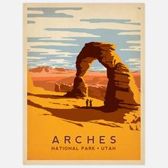 Joel Anderson & Julian Baker: Arches National Park 18x24, at 26% off!