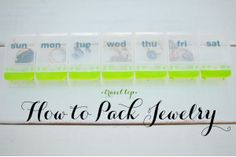 Keep track of your #jewelry when you #travel.  Try using a medicine case for each individual pair.