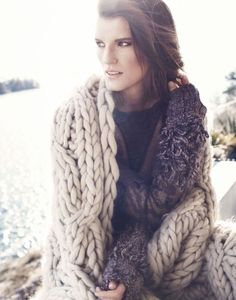Oh I love this...Chunky knit