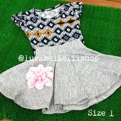 Another Grey Skater Skirt for Kids