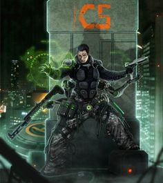 One Man Army by django-red.★ We recommend Gift Shop: http://gosstudio.com ★ #Cyberpunk #Art #gosstudio