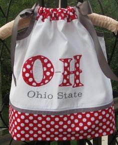 Ohio State baby dress