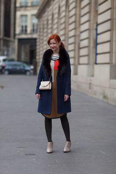 Mondrian style.  Paris Street Style Fall 2013 - Paris Fashion Week Style Fall 2013 - Harper's BAZAAR