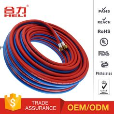 1.Made with high quality PVC and strong reinforced yarn 2.Strong peeling adhesion between yarn and inner-outer tube 3.Stable against kinking and twisting under working pressure 4.High pressure,cold and corrosion-resistance. NON-FLAMMABLE   LIGHT AND STRONG ON SPARK 5.Application: Widely used in Industrial gas, Acetylene and Oxygen transport 6.Size: Our hose sizes available from 4.0mm-13mm, BP from 50bar to 70-120bar 7.Structure of hose:;3layer(BP70-90bar);weave reinforced(BP90-120bar)