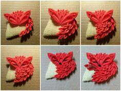 Kanzashi Fox my DIY 4