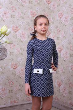 f89b096bb80 Трикотажное платье для девочки Анна 558