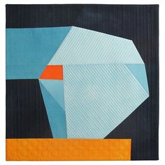 """Anchored by Kathleen Probst, a fabric construction. Cotton, dye.  38.5"""" x 37"""""""