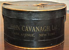 Vintage John Cavanagh Ltd. Park Avenue New York Black and Gold Hatbox