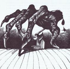 Hans arnold - monsters, fairytales and sweet, sweet girls - Creepy Horror, Sci Fi Horror, Work In Sweden, Vegas Fun, Visual Aids, Sweet Girls, Dark Art, Vintage Art, Fairy Tales
