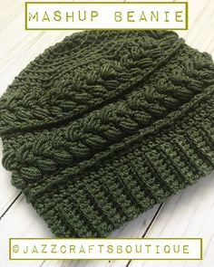 Looking for a unique and comfortable beanie pattern for your hook this season? Check out this Crochet Hat Pattern Mashup Beanie Pattern PDF with Photo