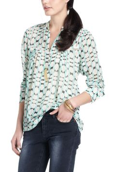 mesilla peasant blouse @Anthropologie