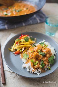Easy Thai Peanut Chicken Curry #recipe via FoodforMyFamily.com